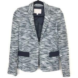 BANANA REPUBLIC Gray Tweed Flap Pocket Blazer